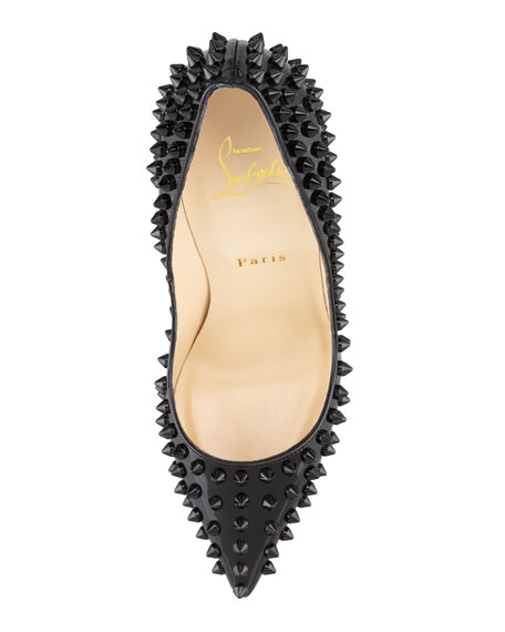 Pigalle Spiked Patent Red Sole Pump