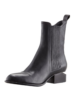 Alexander Wang Anouck Lift-Heel Chelsea Boot, Nickel