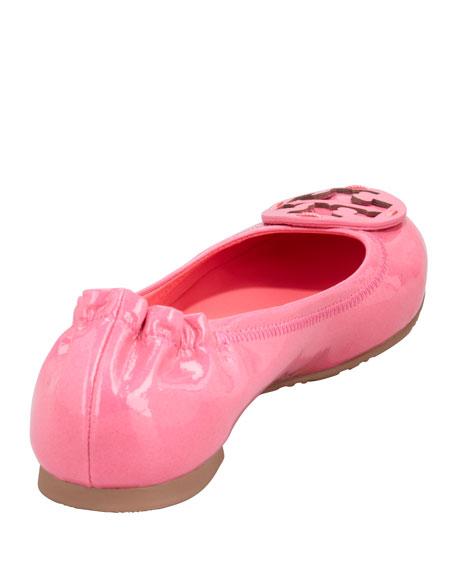 Reva Polished Patent Ballerina Flat, Bougainvillea Pink