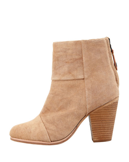 Newbury Canvas Ankle Bootie, Camel