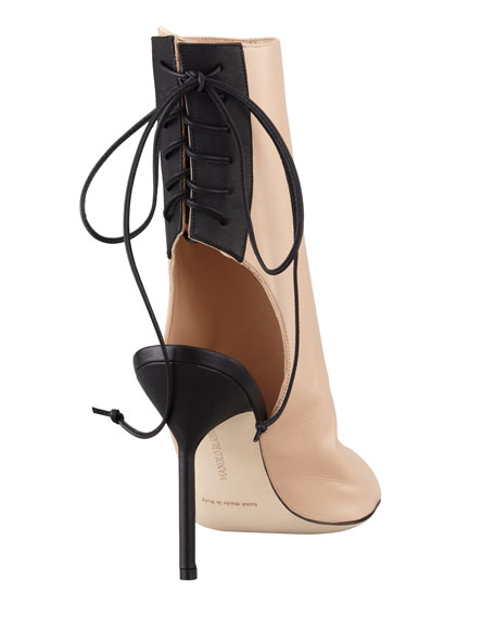 Bellantomod Lace-Back Leather Ankle Boots