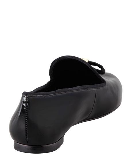 Chandra Patent Smoking Slipper, Black