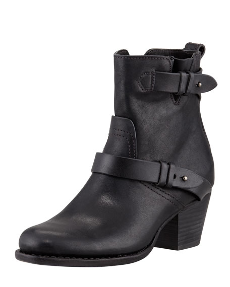 Harper Leather Motorcycle Boot