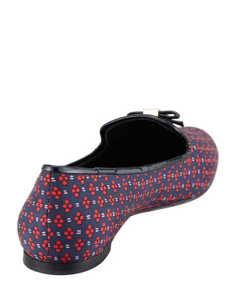 Chandra Printed Smoking Loafer, Navy
