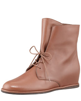 Stuart Weitzman Stepmistress Hidden-Wedge Boot, Luggage