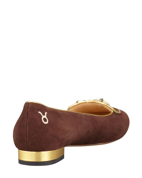 Birthday Taurus Zodiac Smoking Slipper, Brown