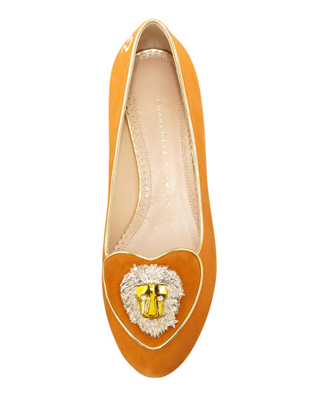 Birthday Leo Zodiac Smoking Slipper, Orange