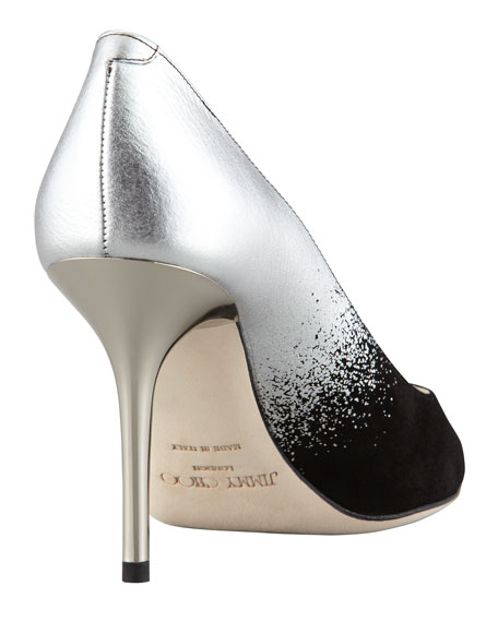 0293092fdf8 Agnes Ombre Pointed-Toe Pump Black/Silver