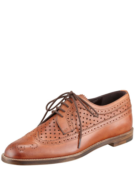 Lorenza Leather Oxford, Brown