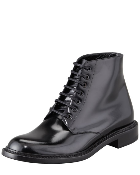 Master Lace-Up Combat Boot, Black