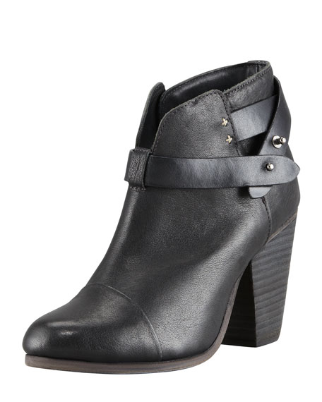Rag & Bone Harrow Leather Ankle Boot, Black