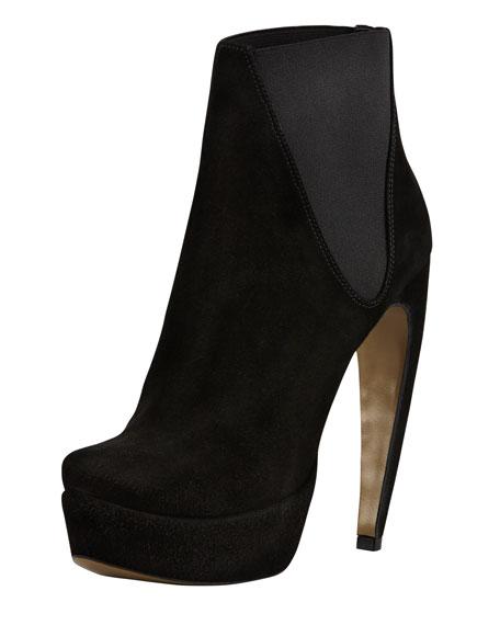 Oscar Curve-Heel Platform Ankle Boot