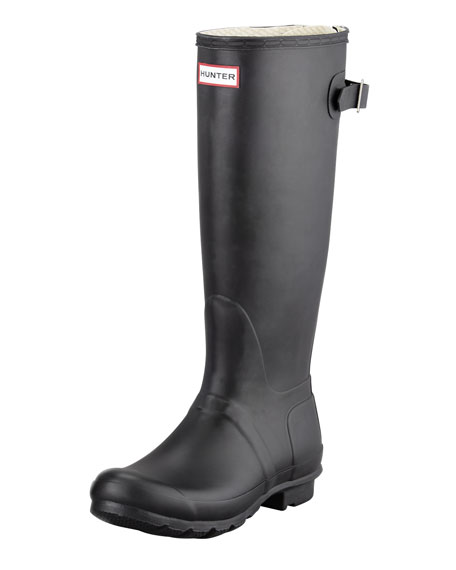 Hunter Boot Flat Adjustable Matte Welly