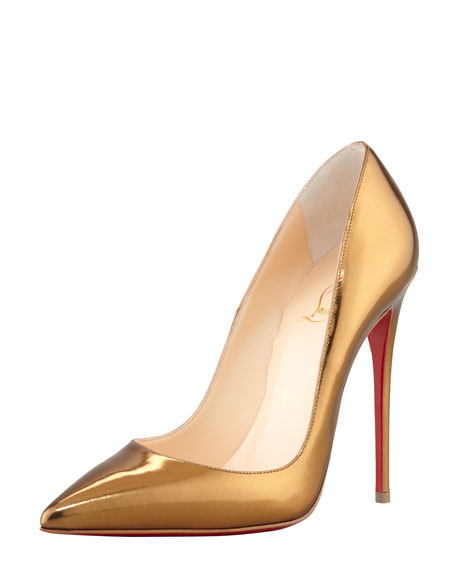 cheap for discount 7c7d4 ddd55 So Kate Mirrored Leather Red Sole Pump Bronze