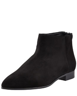 Miu Miu Patent Point-Toe Ankle Boot