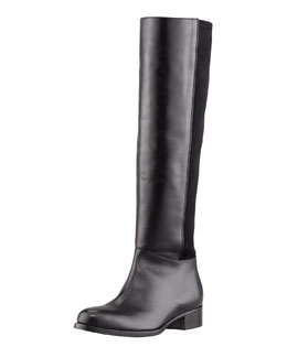 Jimmy Choo Brava Fitted Stretch Leather Knee Boot