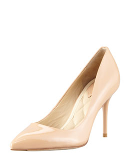 B Brian Atwood Malika Patent Pointed-Toe Pump, Natural