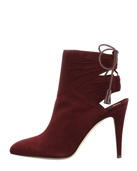 Arron Suede Tie-Back Ankle Boot