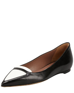 Tabitha Simmons Alexa Bicolor Point-Toe Ballerina Flat