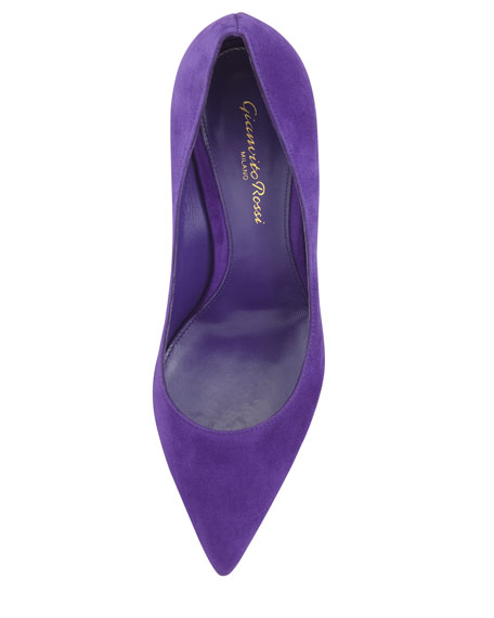 Suede Pointed-Toe Pump