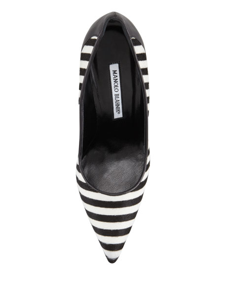 Nitero Striped Calf Hair Pump