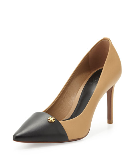 Crawford Colorblock Pointy Pump, Honey Wheat/Black
