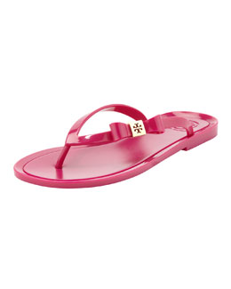 Tory Burch Michaela Bow Jelly Thong Sandal, Fuchsia