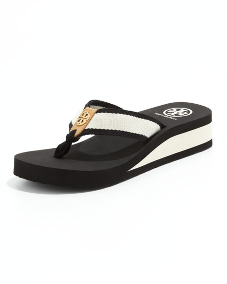 8007c1751d30 Tory Burch Ray Rubber Wedge Flip-Flop