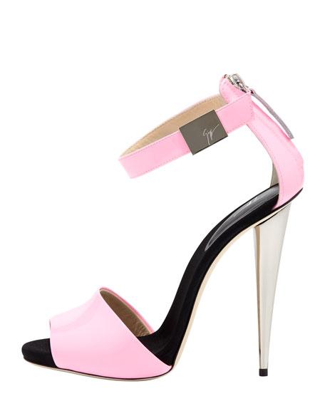 High-Heel Neon Sandal, Neon Pink