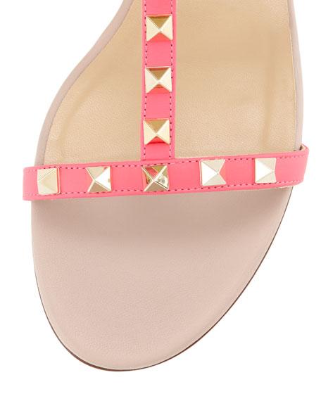 Rockstud Single-Wrap Gladiator Sandal, Pink