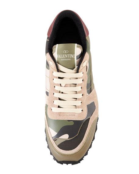 Rockstud Camo Sneaker, Green