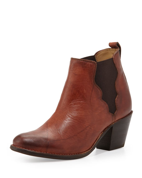 Jackie Gore Ankle Boot, Saddle