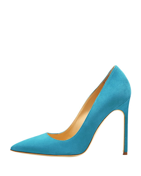 BB Suede 115mm Pump, Malibu Blue