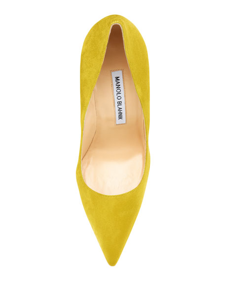 BB Suede 115mm Pump, Limone
