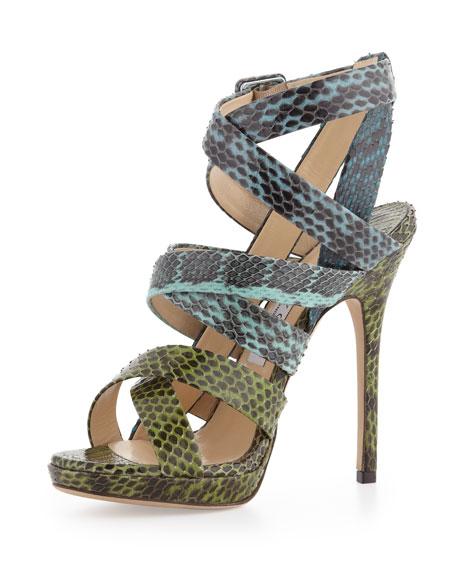 dc7089378 Jimmy Choo Strappy Snakeskin Sandal