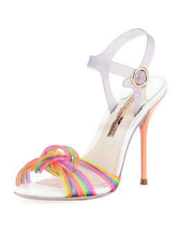Sophia Webster Coralie Ankle-Wrap Jelly Sandal, Multi
