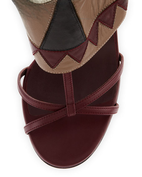 Leather Monster Bootie Sandal