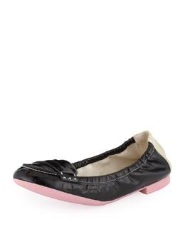 Fendi Patent Leather Ballerina Flat
