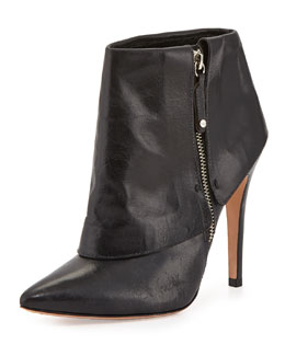 Alice + Olivia Dawson Cuffed Ankle Boot, Black