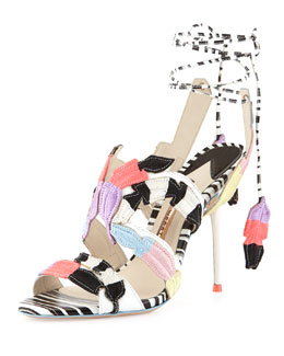 Sophia Webster Carrie Feather-Embroidered Sandal