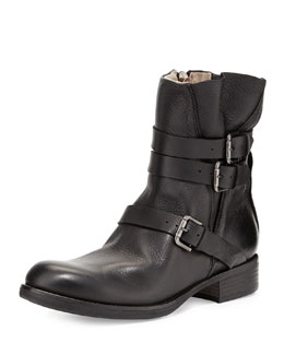 Alberto Fermani Triumvirate Leather Ankle Boot, Black
