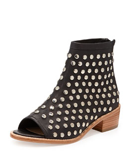 Loeffler Randall Ione Studded Open-Toe Ankle Boot