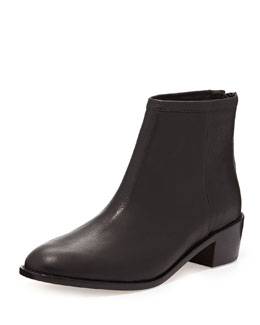 Loeffler Randall Felix Leather Ankle Boot, Black