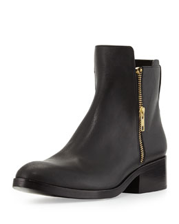 3.1 Phillip Lim Alexa Zip Leather Ankle Bootie, Black