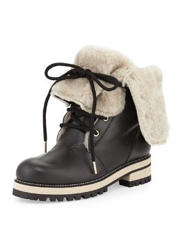 Jimmy Choo Dalton Shearling Fur-Lined Mid-Calf Boot