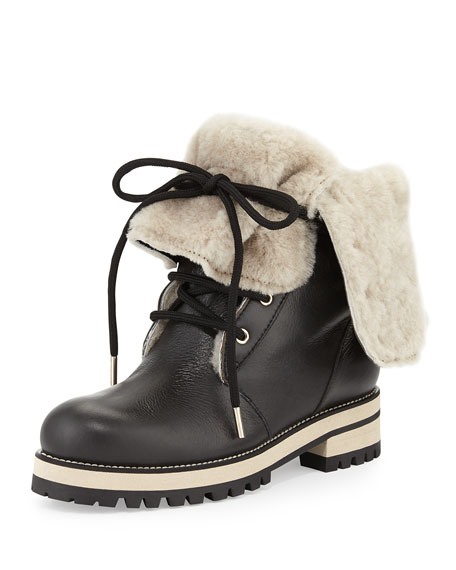 Dalton Shearling Fur-Lined Mid-Calf Boot