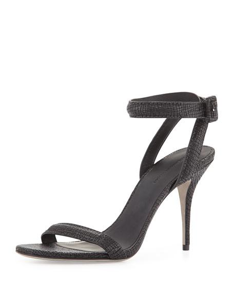 Leather Alexander Wang SandalBlack Wrap Ankle Antonia Textured doerCxWB