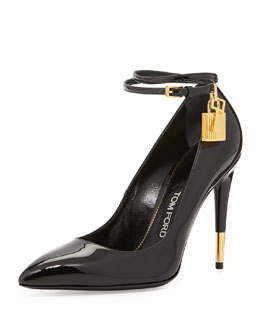 Tom Ford Patent Ankle-Lock Pump, Black