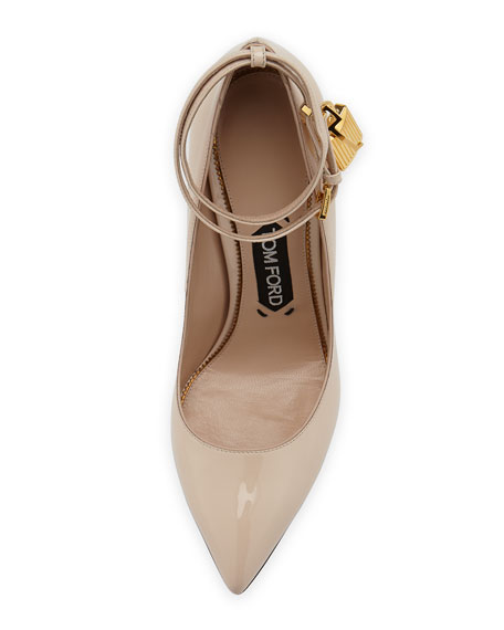 Patent Ankle-Lock Pump, Nude