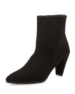 Stuart Weitzman Apollo Suede Ankle Boot, Black
